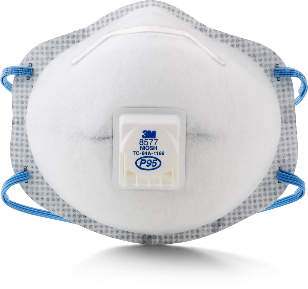 3M PARTICULATE RESPIRATOR 8577, P95, WITH NUISANCE