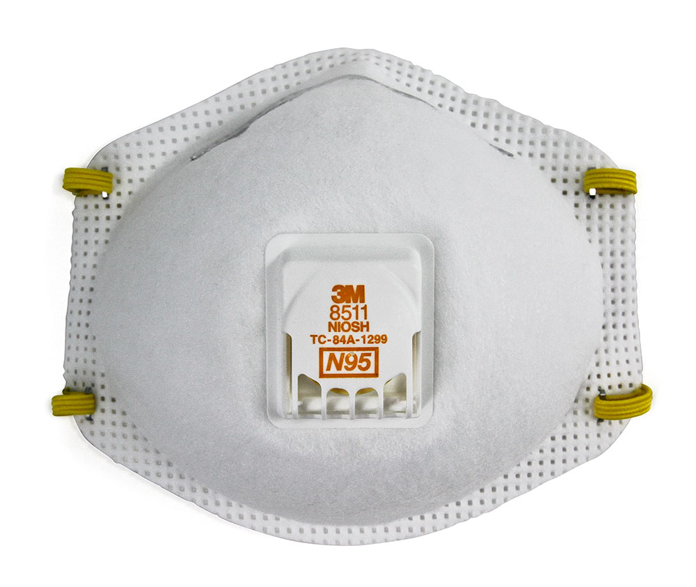3M PARTICULATE RESPIRATOR 8511, N95, WITH EXHALATION
