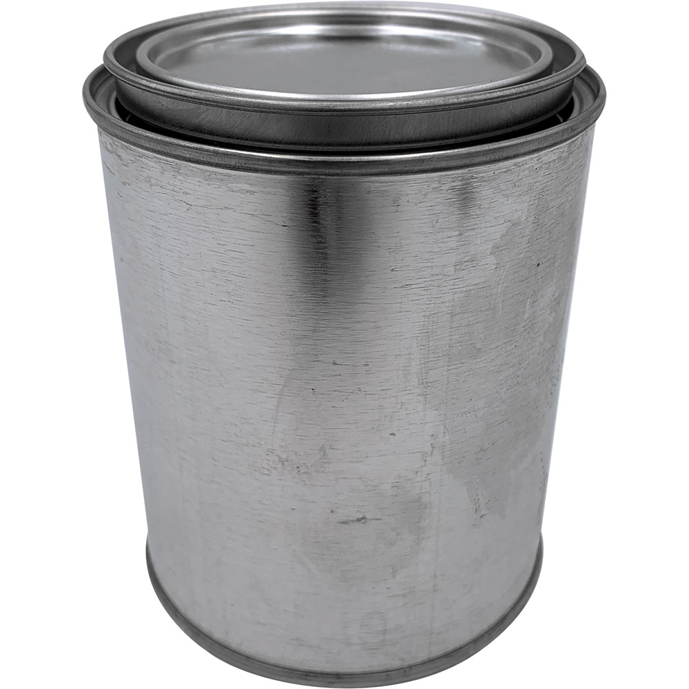 CASE(50) M/T ROUND EMPTY PINT CAN WITH LID